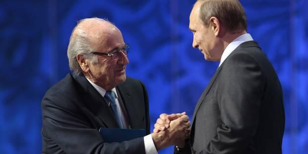 """Blatter à Poutine: """"Oui à la Russie"""" - La Libre"""