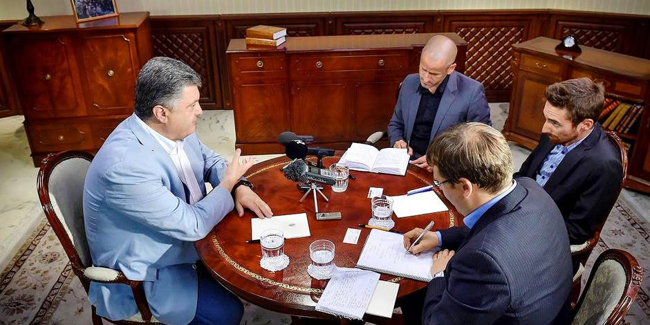 "Nous avons rencontré Petro Porochenko: ""Poutine veut toute l'Europe"""