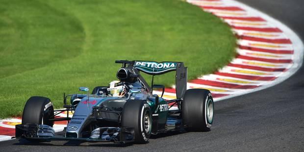 GP de Belgique: Hamilton devant Rosberg après la 3e séance d'essais libres - La Libre