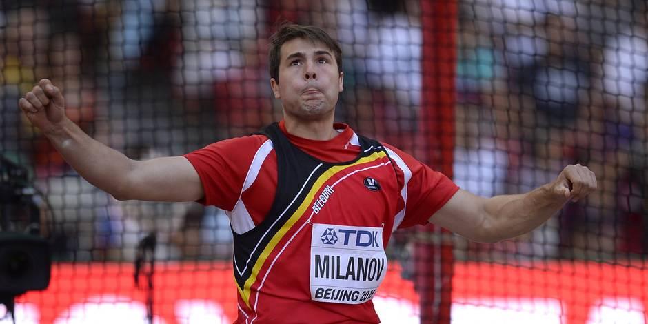 Mondiaux: Philip Milanov décroche l'argent au lancer du disque et bat le record de Belgique
