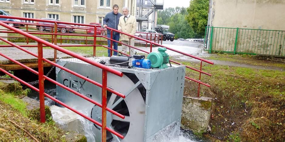 Une hydrolienne inaugurée sur le Ton à Virton