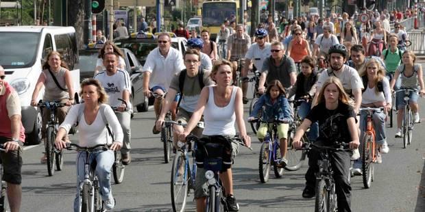 Dimanche sans voiture: une fête dans le tunnel Porte de Namur - La Libre