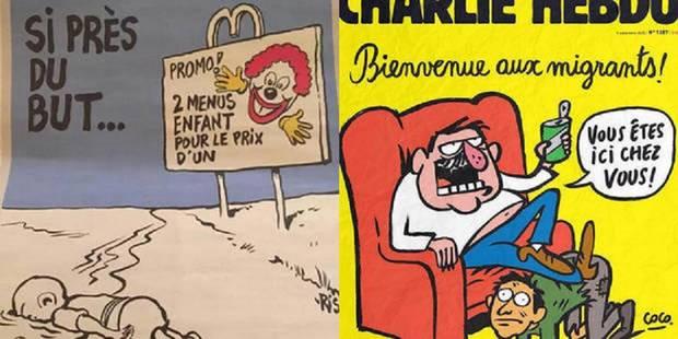 Réfugiés: Charlie Hebdo défend ses dernières caricatures controversées - La Libre
