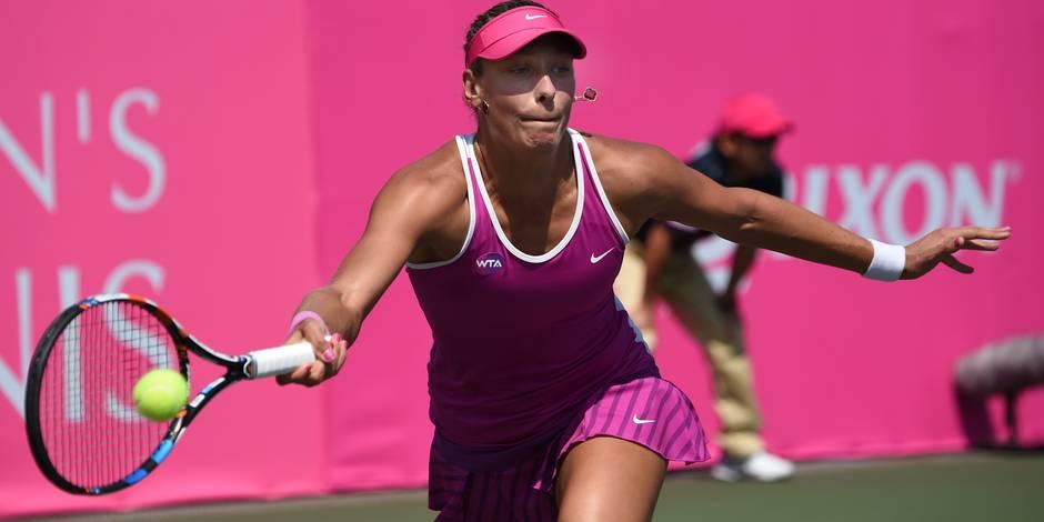 Yanina Wickmayer en finale du tournoi de Tokyo