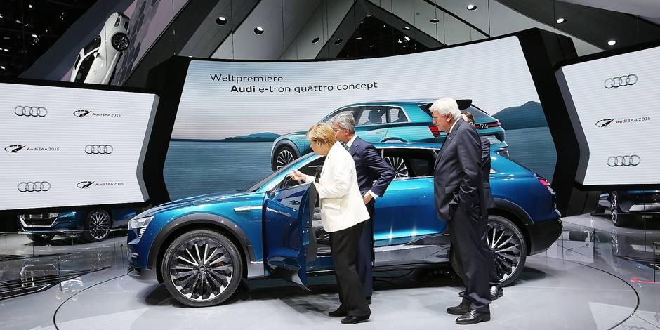 Angela Merkel at International Motor Show IAA