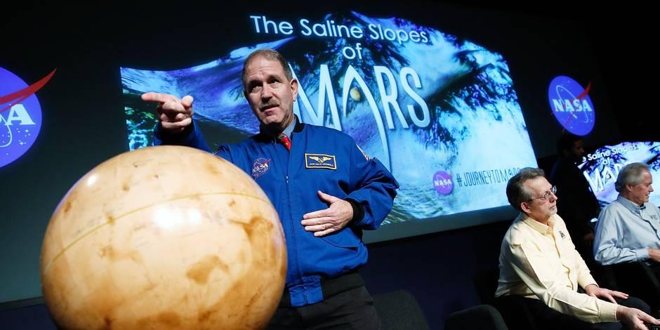 La découverte d'eau sur Mars dope l'espoir d'y trouver la vie