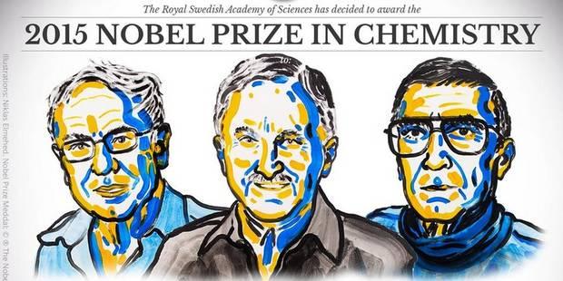 Le prix Nobel de chimie décerné à Tomas Lindahl, Paul Modrich et Aziz Sancar - La Libre