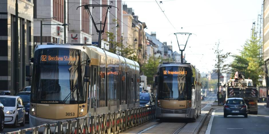 Les jours de la piétonne heurtée par un tram à Bruxelles ne sont pas en danger