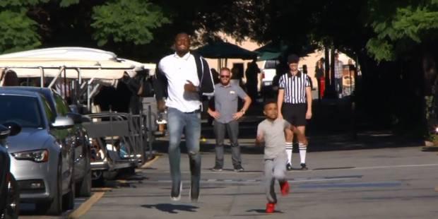 Un garçon de 8 ans bat Usain Bolt au sprint - La Libre