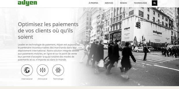 La plateforme de paiement électronique Adyen s'attaque au marché belge - La Libre
