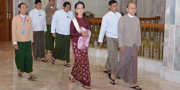 """Elections en Birmanie: rencontre entre Suu Kyi et le président pour préparer une """"transition pacifique"""" - La Libre"""