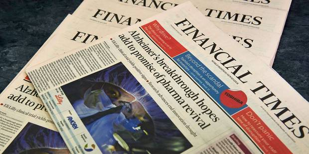 Le Financial Times perturbe le marché en informant par erreur sur la BCE - La Libre