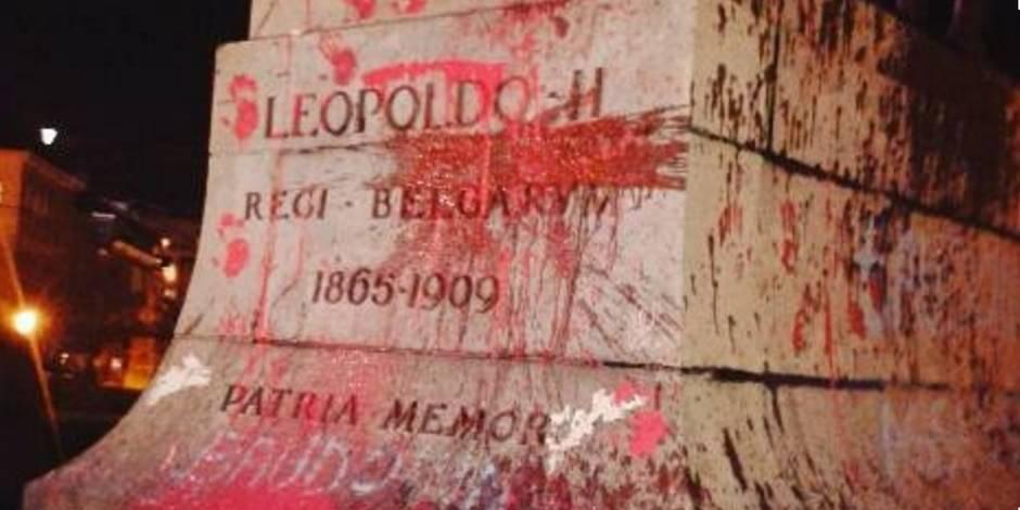 La statue de Léopold II vandalisée
