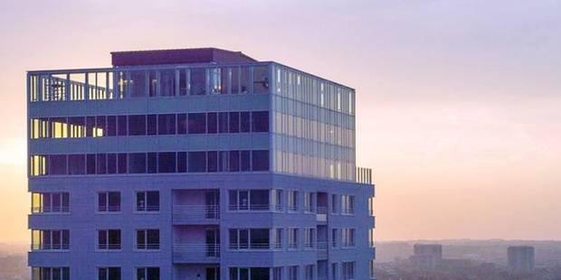 Environ 2 600 euros le mètre carré pour le sommet de la tour UP-site - La Libre
