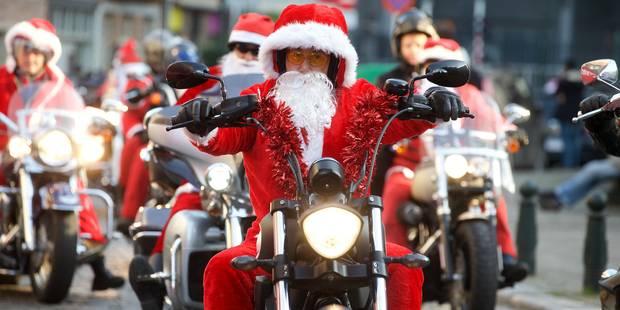 Près de 300 Harley-Davidson défilent à Bruxelles pour Noël - La Libre