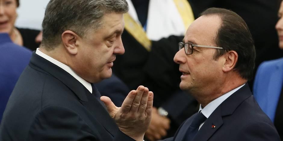 Ukraine: Merkel, Hollande, Poutine et Porochenko réaffirment leur engagement pour un cessez-le-feu
