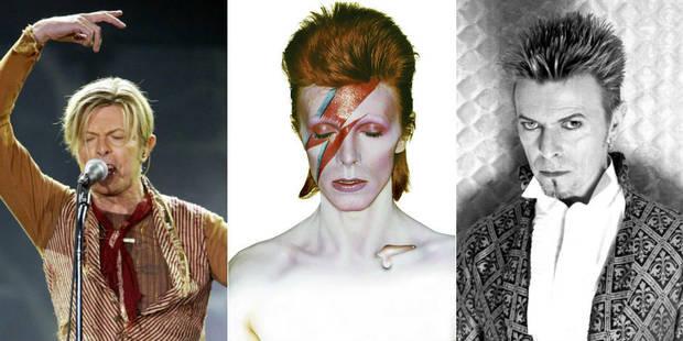 Toutes les coupes de cheveux de David Bowie en une image animée - La Libre
