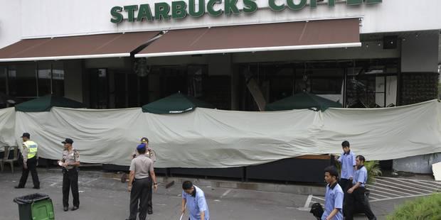 Attentats à Jakarta: la police en alerte maximale, des assaillants identifiés - La Libre