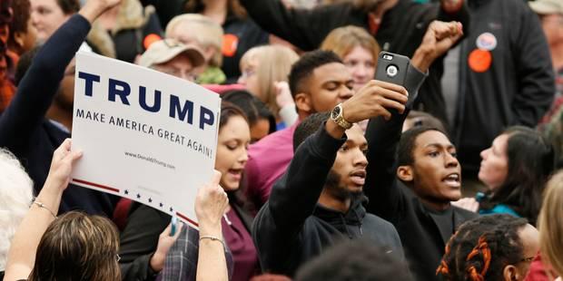 USA: un photographe plaqué au sol par un policier du Secret Service à un meeting de Trump - La Libre