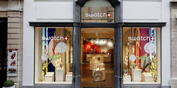 Swatch fait son blé rue au Beurre - La Libre