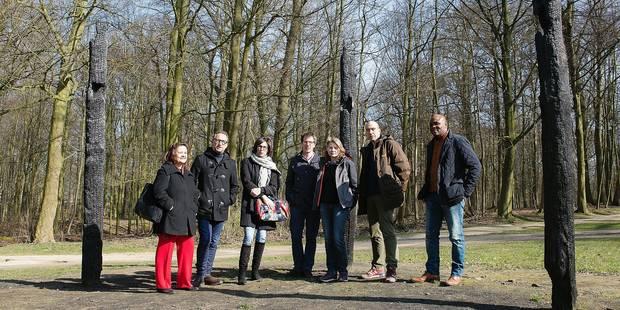visite du bois de la cambre elus ucclois et ixellois