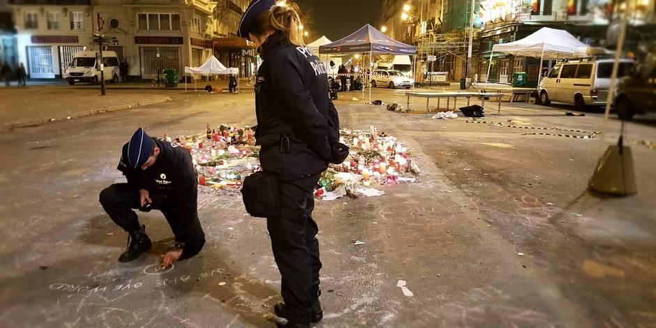 La photo touchante de deux policiers à la Bourse