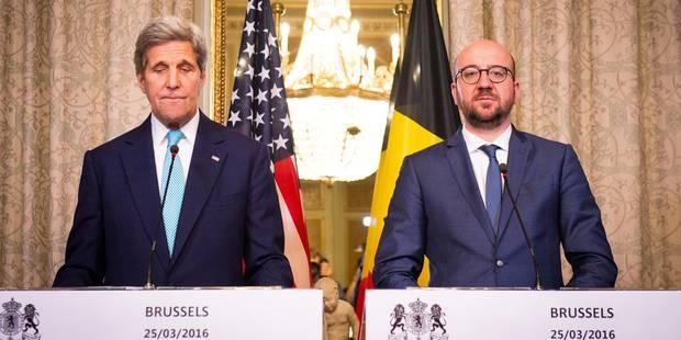 """John Kerry se dit """"bruxellois"""" en soutien à la Belgique, le FBI présent à Bruxelles - La Libre"""