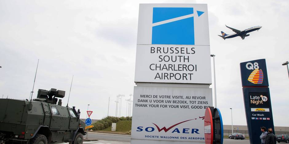 L'aéroport de Charleroi en état de siège