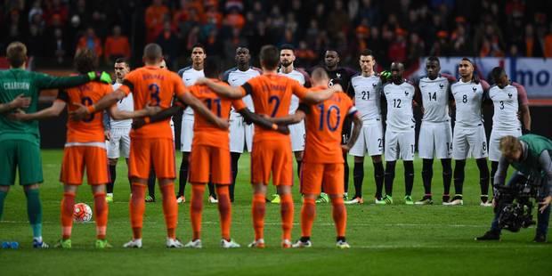 La France s'impose sur le fil face aux Pays-Bas, magnifiques hommages à Cruyff et aux victimes de Bruxelles (PHOTOS + VI...