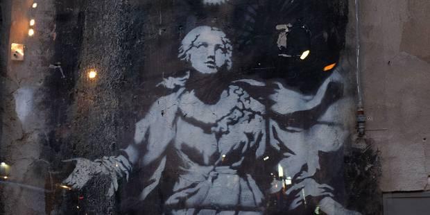 """""""La Madone"""" de Banksy à Naples désormais protégée - La Libre"""