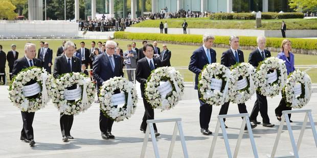"""Jour """"historique"""" à Hiroshima, hommage de Kerry et ses homologues du G7 - La Libre"""