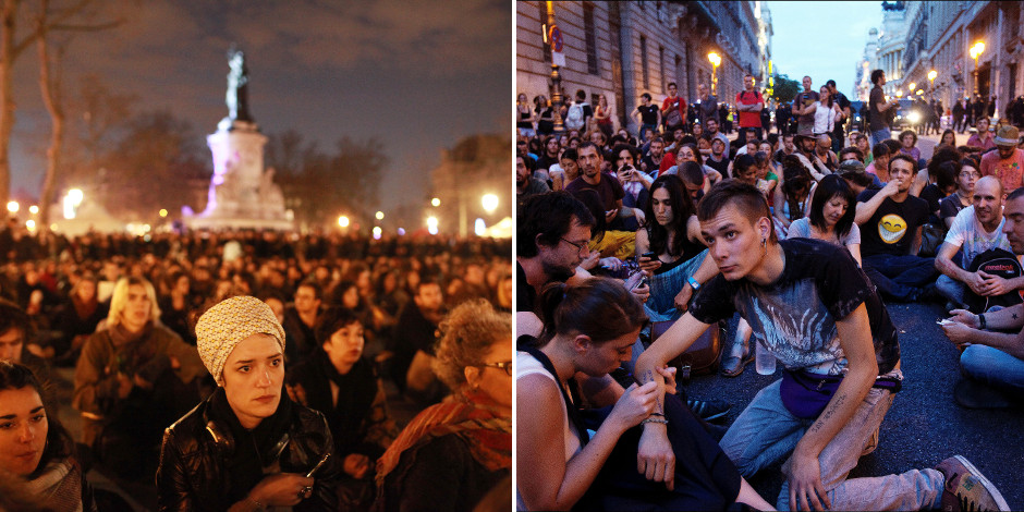 """""""Nuit debout"""", """"Indignados"""": similitudes et divergences - La Libre"""