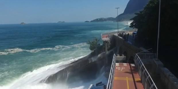 A Rio, une piste cyclable construite pour les JO s'effondre - La Libre