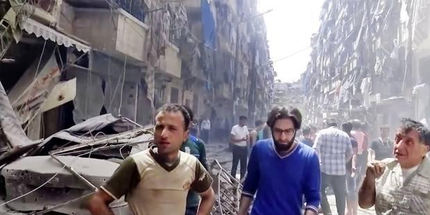 Les rebelles d'Alep sous le feu de l'armée syrienne - La Libre