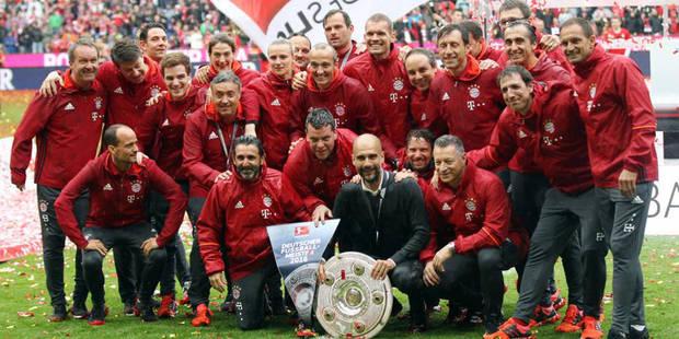Bundesliga: le Bayern fête son titre àla bière, Stuttgart et Hanovre descendent - La Libre