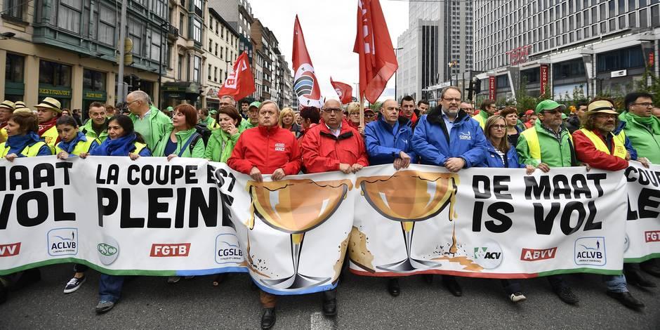 Manifestation à Bruxelles: 60.000 personnes ont défilé selon la police