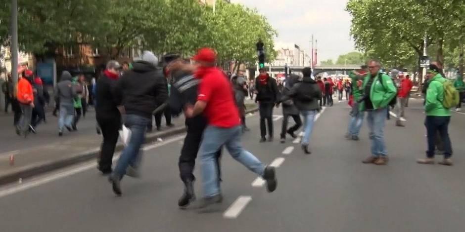 """Agressé lors de la manifestation, le commissaire Vandersmissen riposte: """"Des gens veulent visiblement ma peau"""""""