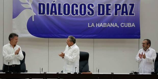 Colombie: Farc et gouvernement signent un accord sur le cessez-le-feu et le désarmement - La Libre