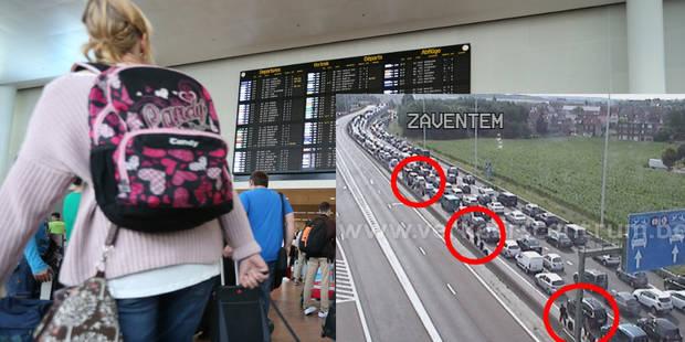 Embouteillages en direction de Zaventem: des voyageurs à pied pour rejoindre l'aéroport - La Libre