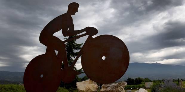 Les coureurs du Tour n'iront pas jusqu'au sommet du Ventoux jeudi - La Libre