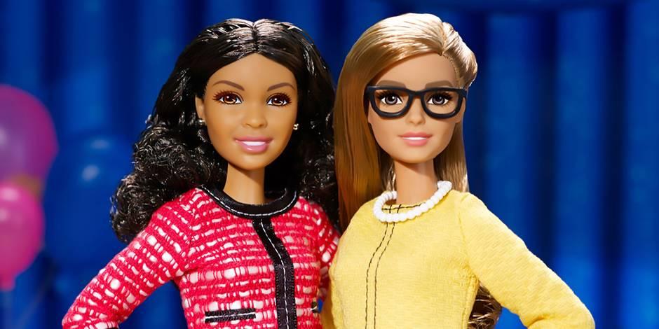 """Deux poupées Barbie pour """"encourager les fillettes à devenir des dirigeantes"""""""