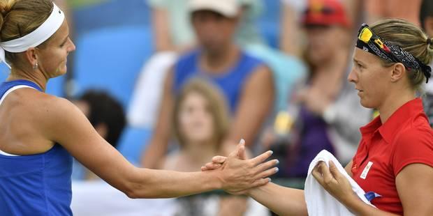 """Flipkens file en huitièmes après l'abandon de Safarova: """"Je n'ai jamais pensé atteindre le 3e tour"""" - La Libre"""