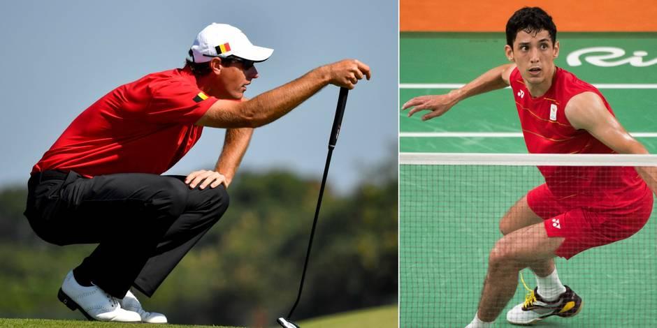 Les Belges à Rio: l'émotion de Colsaerts, Yuhan Tan éliminé en badminton