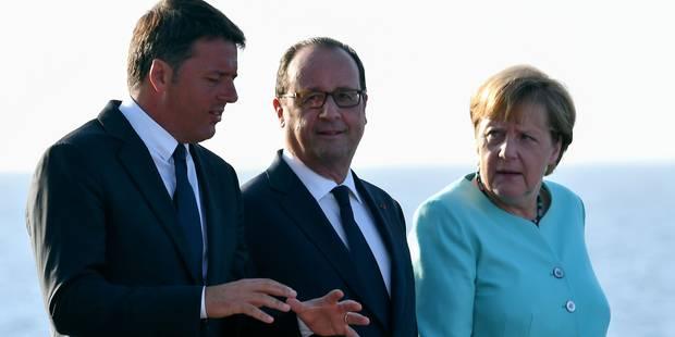 Merkel, Hollande et Renzi appellent à une relance du projet européen - La Libre