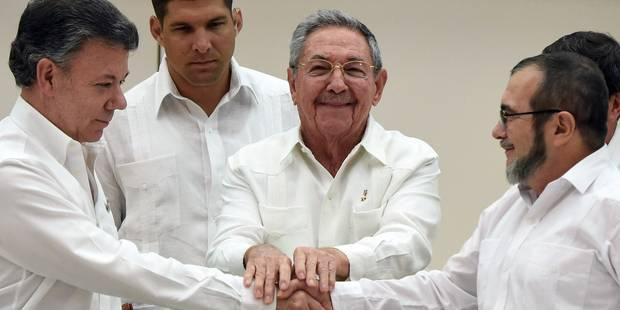 Colombie : les Farc et le gouvernement scellent un accord de paix historique - La Libre