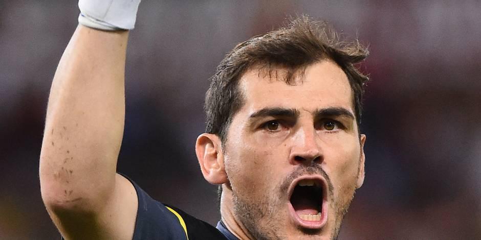 Casillas non retenu avec la sélection espagnole face aux Diables