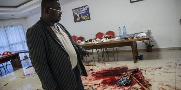 Gabon: traces de sang et impacts de balles au siège de Jean Ping dévasté - La Libre