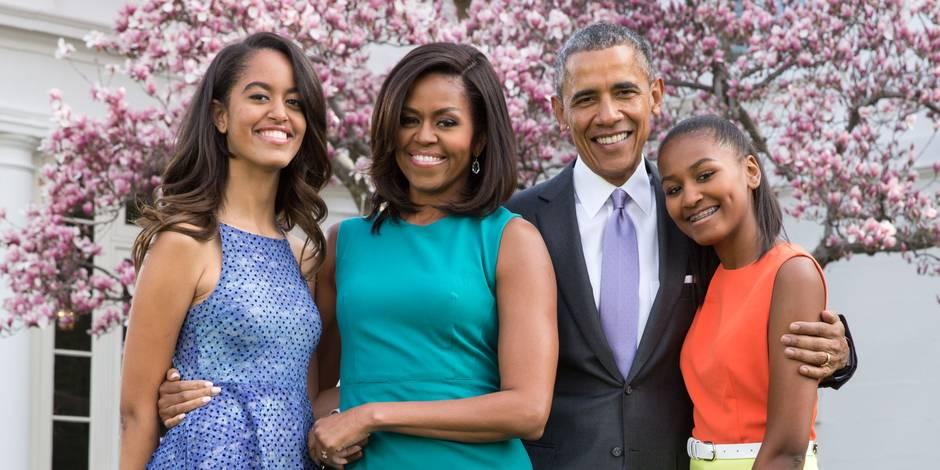 """Michelle Obama : """"Difficile pour Malia et Sasha de quitter la Maison Blanche"""""""