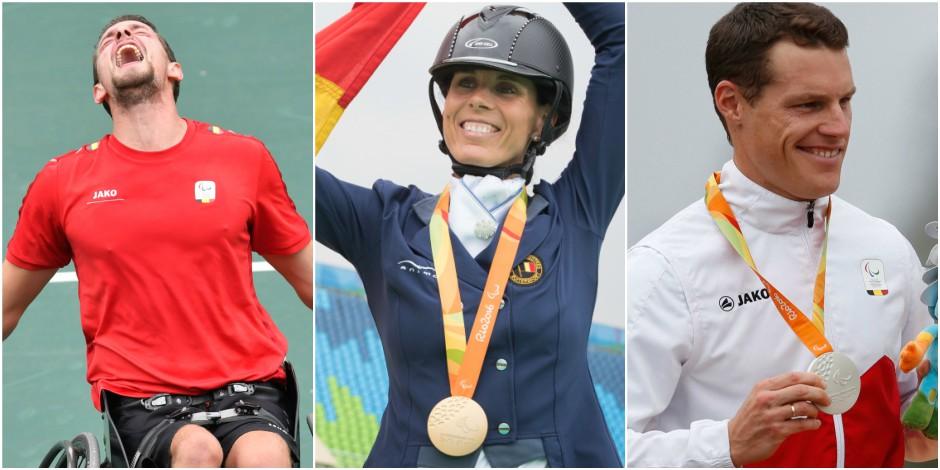 Jeux paralympiques: la délégation belge glane 4 médailles en une journée