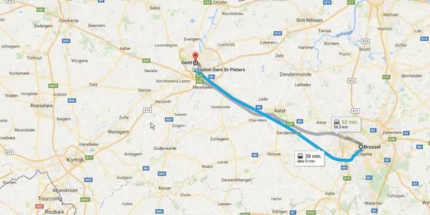 SNCB: retour à la normale sur la ligne Bruxelles-Gand - La Libre